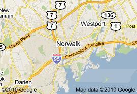 Norwalk,+CT+Map
