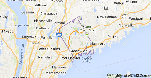 Greenwich CT map