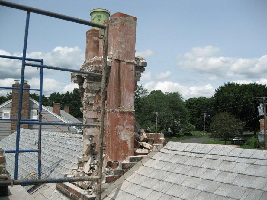 chimney teardown