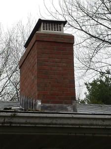 East Hartford chimney rebuild