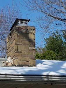 East Hartford porous masonry chimney