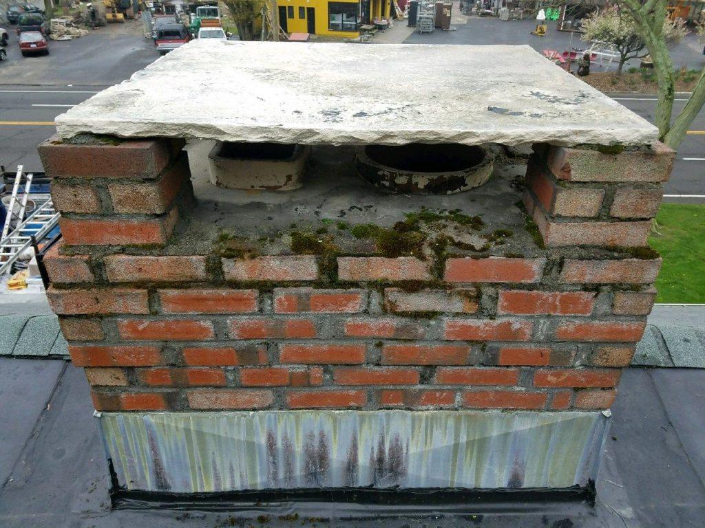 Westport Chimney Repair Moss Removed From Bricks